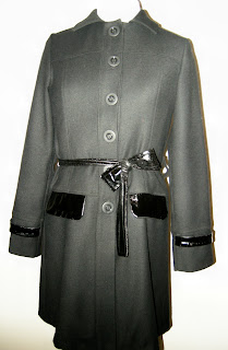 fall coat, winter coat, Victorias secret knock off, wool coat, black coat, black wool coat, handmade coat