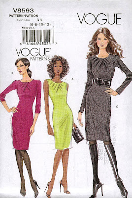 Vogue Patterns, Vogue Dress, Vogue 8593, Little Black Dress, LBD