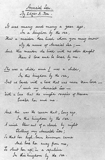 Edgar Allan Poe Annabel Lee manuscript