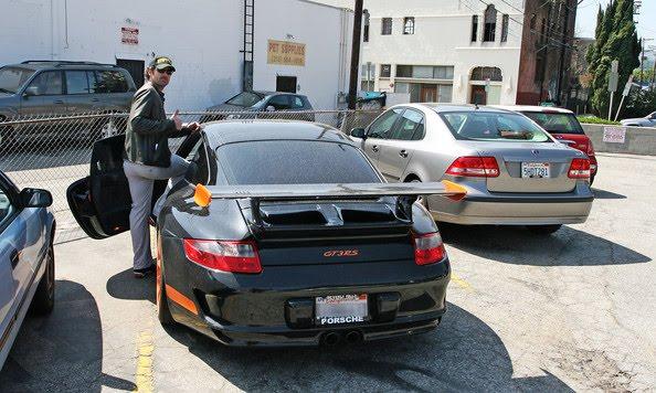 Patrick Dempsey And His Porsche Gt