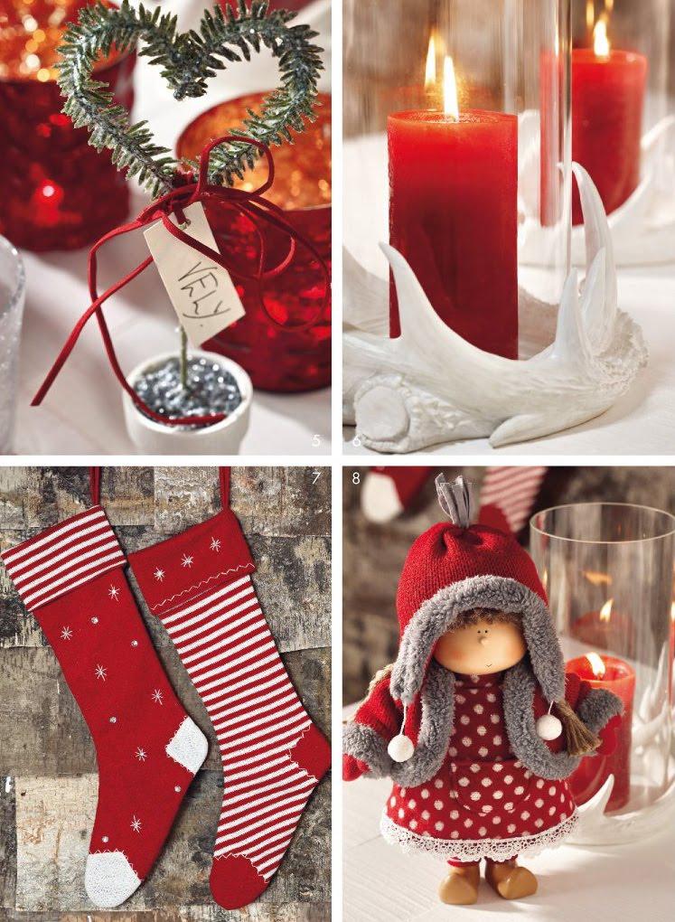 Rojo y blanco apuesta segura en navidadred and white a for Sia decoration noel