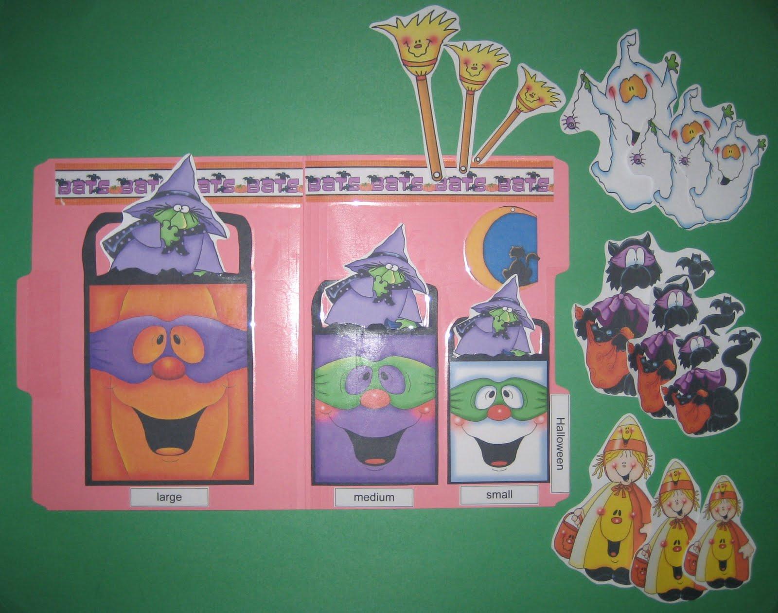 halloween sequencing file folder game - Halloween File Folder Games