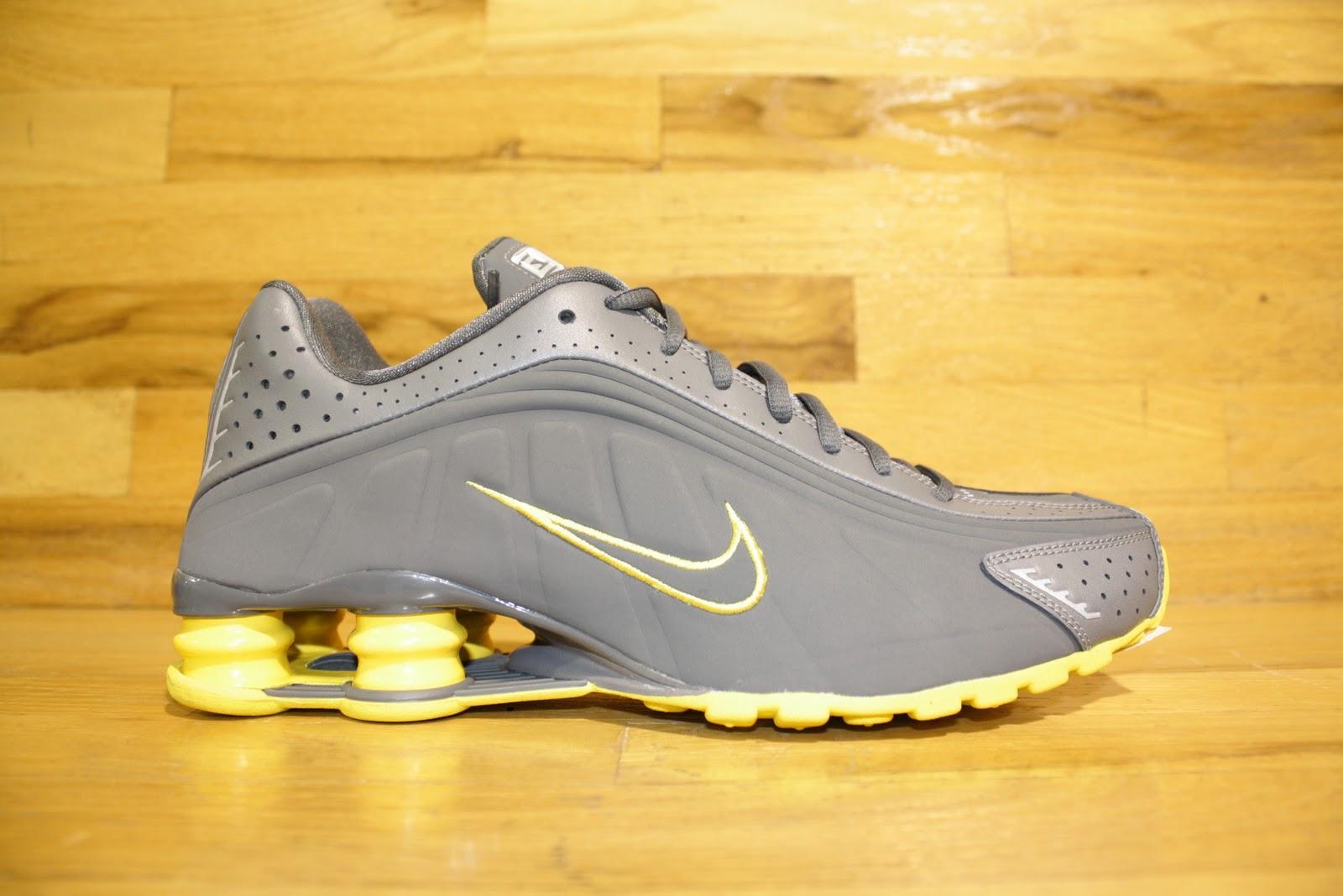 descontar más reciente sneakernews línea barata Nike Shox R4 Alfombra Amarilla Gris comprar barato auténtica envío libre auténtico wHUJlG