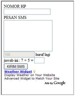 kirim SMS gratis dari Internet Free SMS