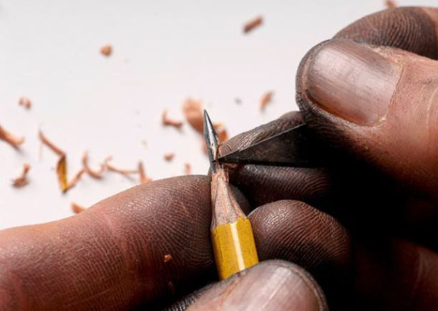 Algunos no saben ni afilar un lápiz