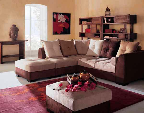 esta es una sala indesta sala es ideal para decorar tu hogar con un mueble esquinero con combinacion de colores que cautivarn tu casa