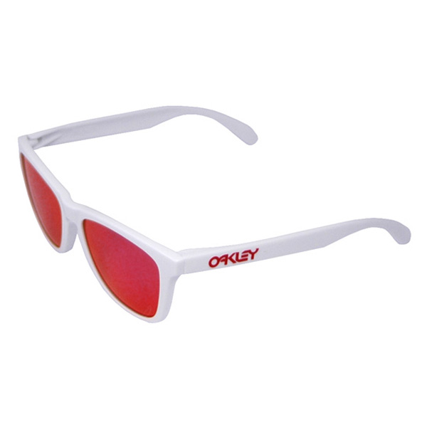 oakley frogskins ruby iridium white