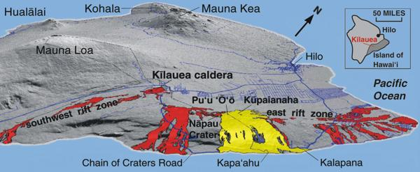 HAWAIIAN LAVA DAILY Kilauea Volcano eruption historical