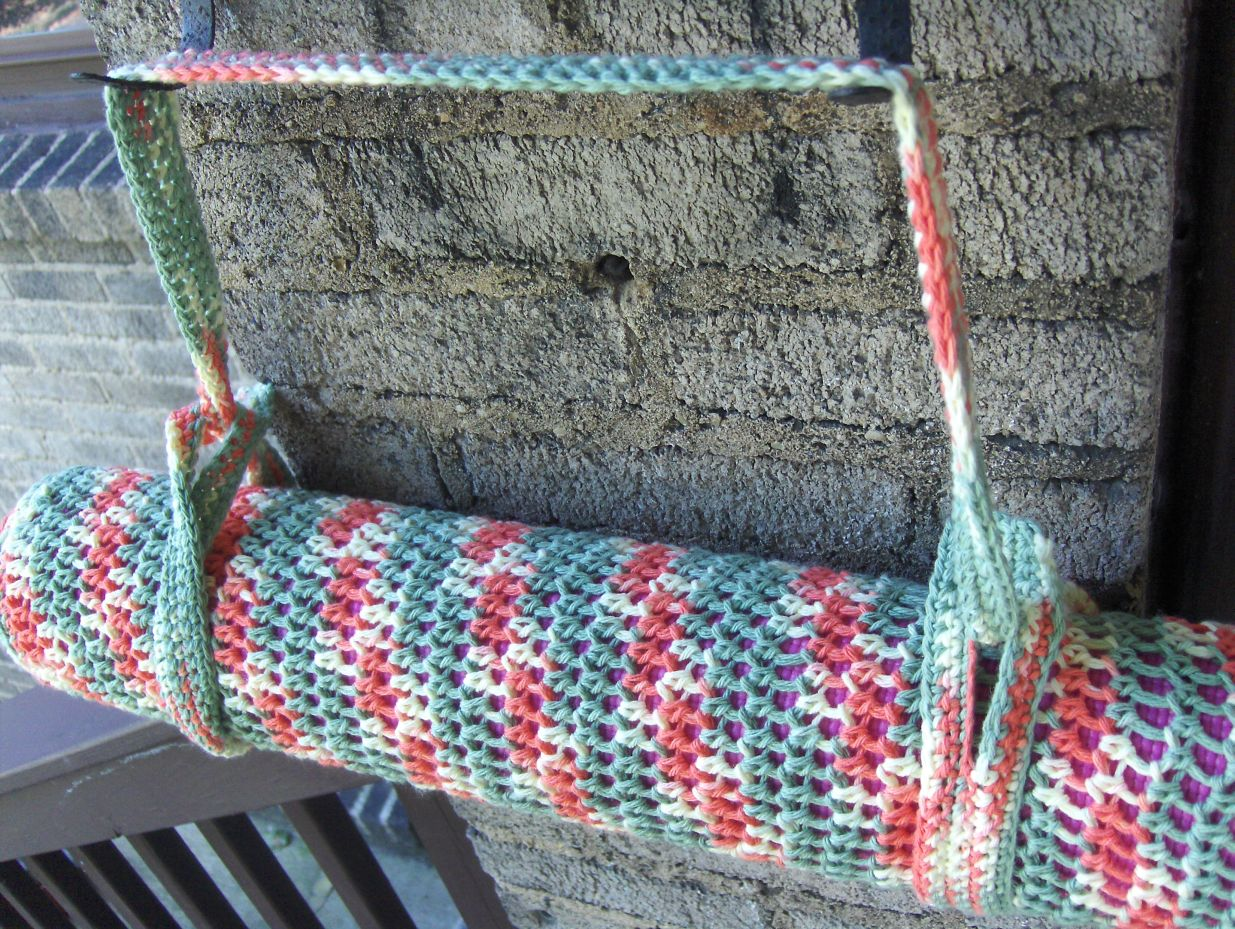 crocheted myself a yoga mat bag using this great free pattern but ...