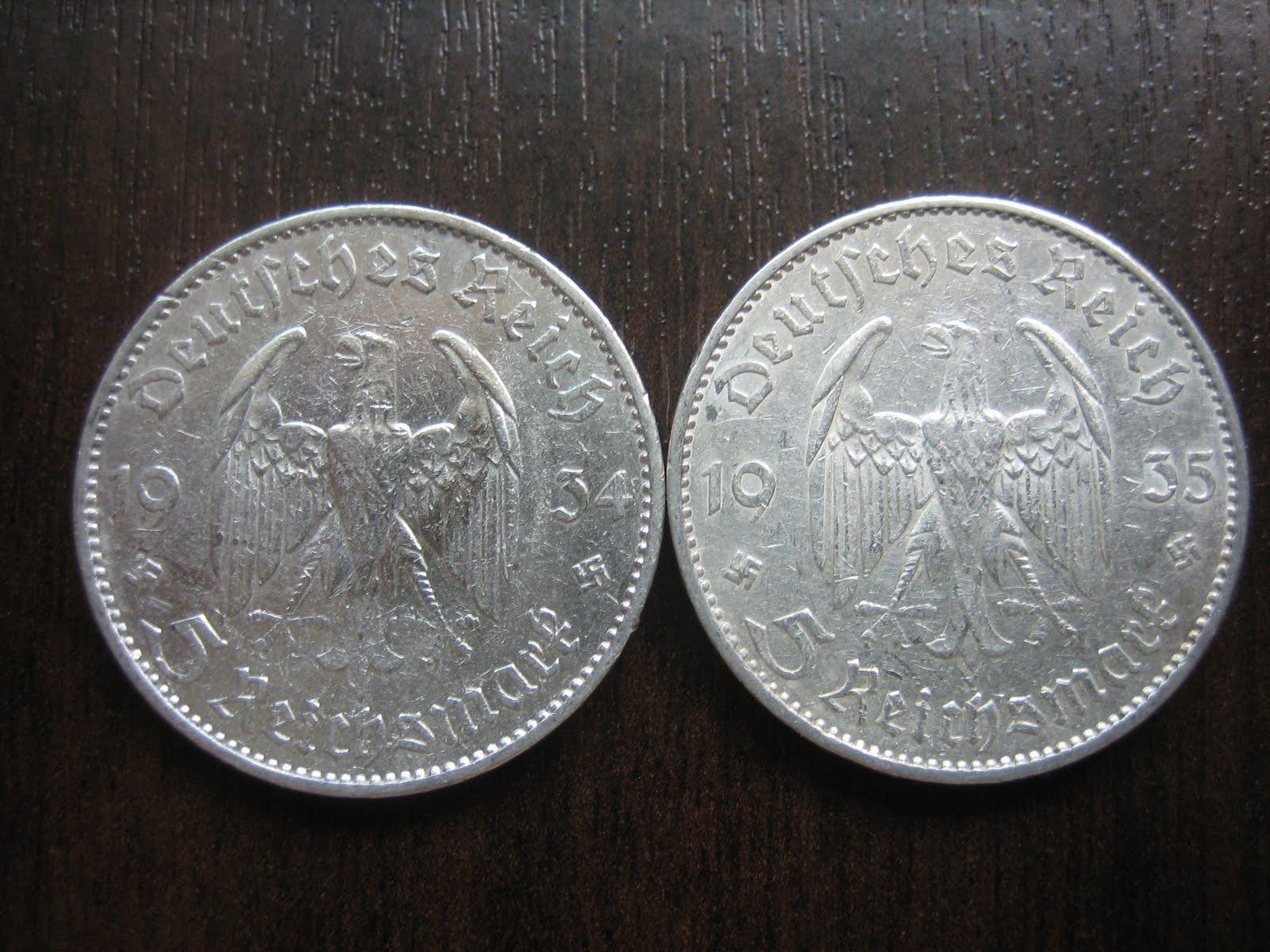 Numismatic Collection 1935 Third Reich Silver Reichmark