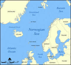 Kart over Norskehavet