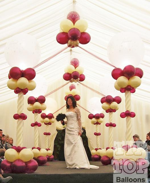 Balloons decoration for wedding interior home design for Home decorations with balloons