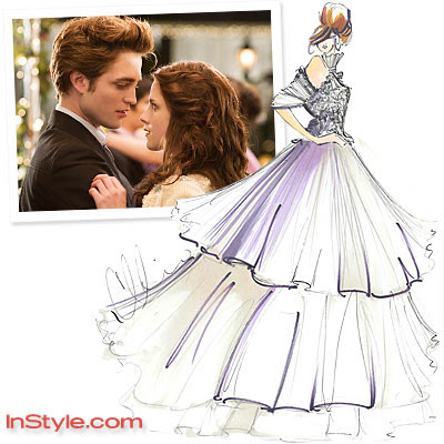 of Bella's wedding dress