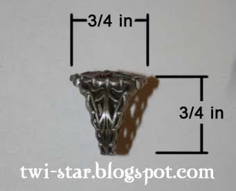 twistar bella cullen crest replica ring review hot topic $ 20