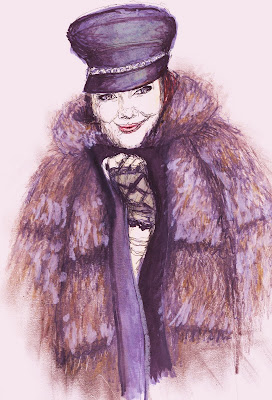 fashion illustration of Jane Aldridge by Liz Blair