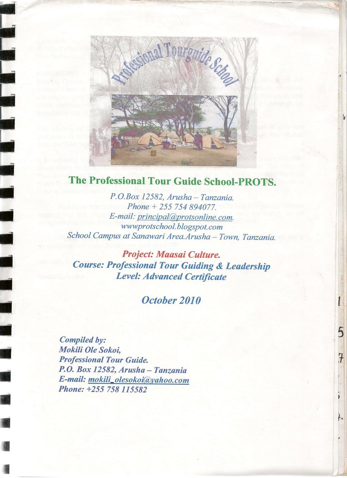 professional tourguide school graduate mokili ole sokoi graduate diploma project front page