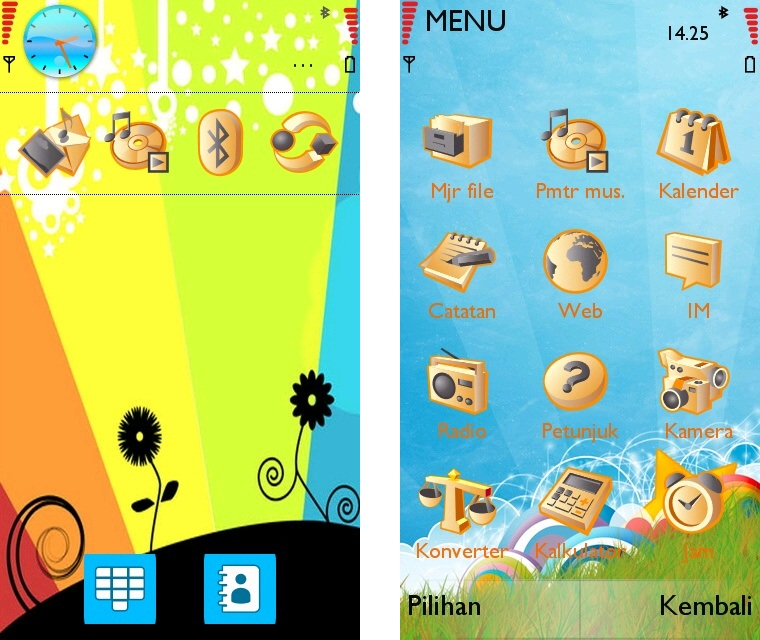 Aurora theme for nokia Symbian S60v5 (5800,5230,5228,5235,5530,5233,X6