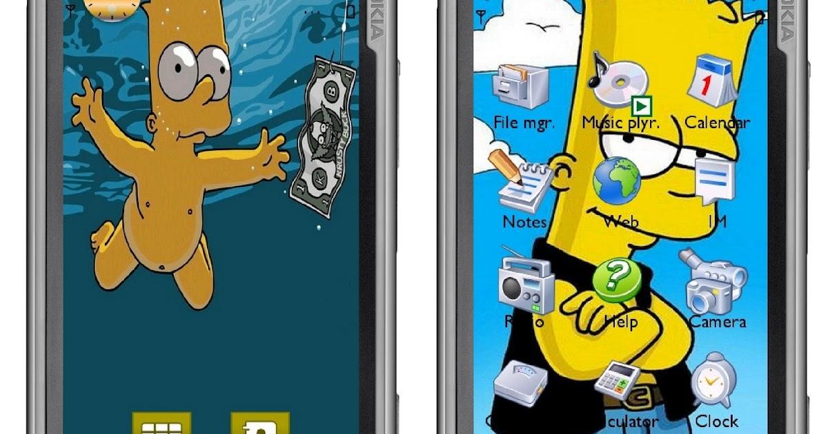 Bart simpson theme for nokia symbian s60v5 5800 5230 5228 - Bart simpson nu ...