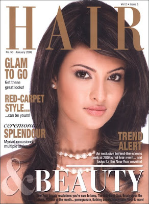 Sayali Bhagat on cover of Hair