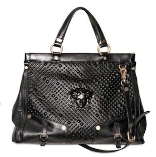 Versace Studded Relief Top Handle Bag