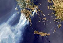 Satelliet foto Griekenland