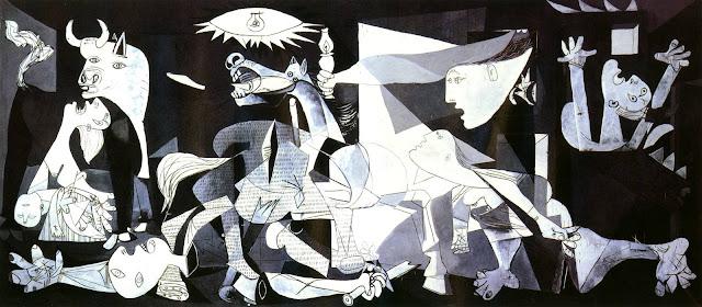 герника, пабло пикассо, самые страшные картины, ужасы