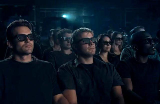 пила, зал, трейлер, темные очки, кинотеатр, 3D
