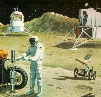 ретро футуризм, шестидесятые, научная фантастика