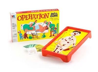 игра операция, игры шестидесятых, обучающая игра