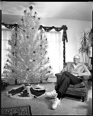 алюминиевая елка, ретро елка, новогодняя елка шестидесятых