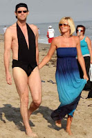 Jenny McCarthy Jim Carrey switch bathingsuits