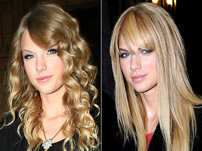 Liz McClarnon's long straight hairstyle with bangs. Labels: Taylor Swift