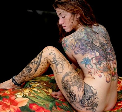 naked girls with tribal tattoos