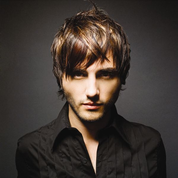 Long bangs hairstyle is modern and chic hairstyle. Men's Layered Hair Style: