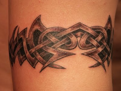 Tribal Armband tattoos are popular for men as well as popular with women