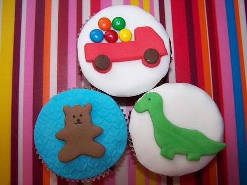 cupcakes de bichinhos de circo