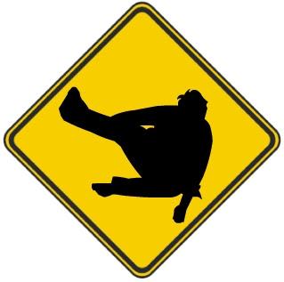 Cuidado Com Os Ninjas - Placa