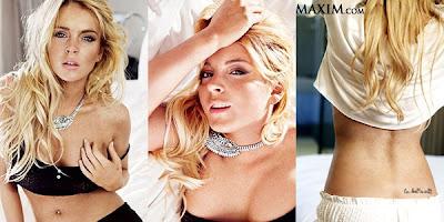 Ensaio sensual de Lindsay Lohan