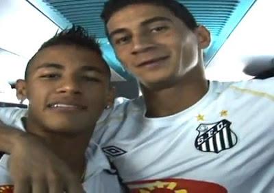 oto de Neymar e Ganso