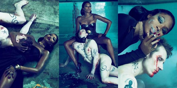 Naomi Campbell ensaio sensual