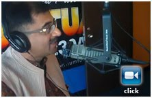 Tarun Vijay on live radio in Houstan May 2010