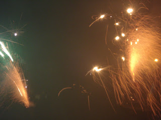 Fireworks exploding in the sky