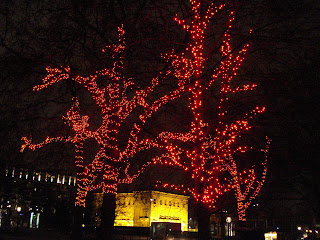 Red Christmas Lights in London