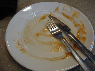 An empty plate with Cutlery