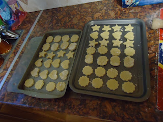 Biscuits ready for the Oven