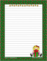 Christmas themed writing papers that resource site
