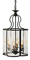 Curved Glass Iron Lantern