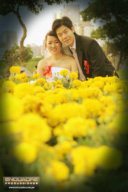 foto boda novios surco lima