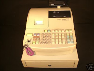 Royal Alpha 580 Cash Register used by Deaf Employee