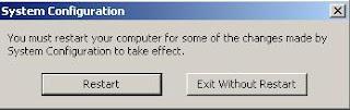 Restart or reboot computer